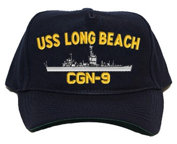 USS Long Beach CGN-9 Regulation Cap