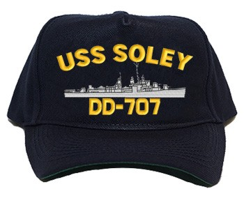 USS Soley DD-707 Navy Ship Hats