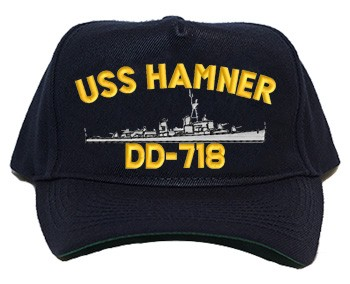 USS Hamner DD-718 Navy Ship Hats