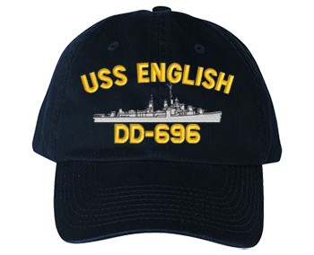 USS English DD-696 Old Salt Style Cap