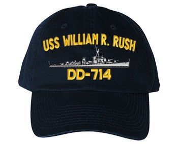 USS William R. Rush DD-714 Old Salt Style Cap