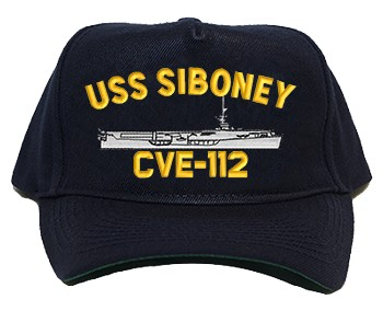 USS Siboney CVE-112 Regulation Style Cap