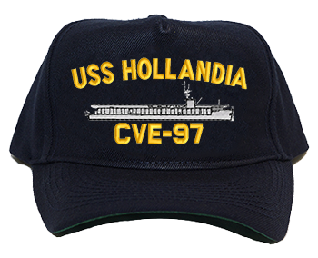 USS Hollandia CVE-97 Regulation Style Cap