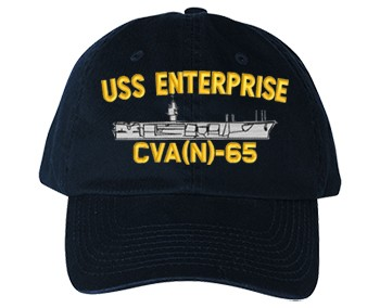 USS Enterprise CVAN-65 Old Salt Style Cap