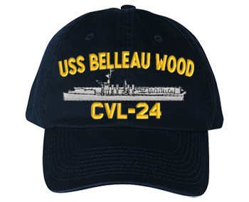 USS Belleau Wood CVL-24 Old Salt Style Cap