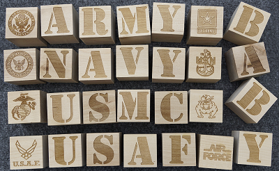 Military Baby Building Blocks (6 blocks per set)