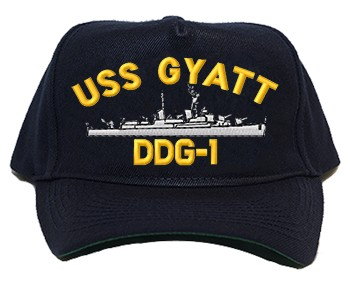 USS Gyatt DDG-1 Navy Ship Hats