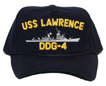 USS Lawrence DDG-4 Navy Ship Hats