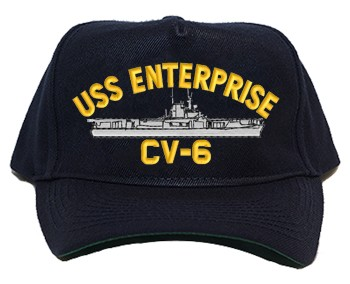 USS Enterprise CV-6 Regulation Cap