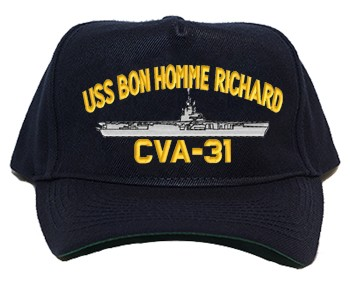 USS Bon Homme Richard Navy Ship Hats