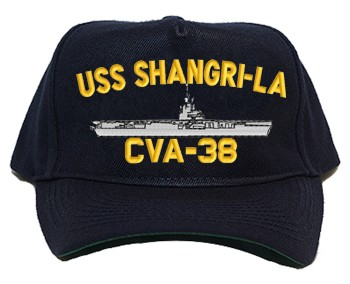 USS Shangri-La CVA-38 Regulation Cap