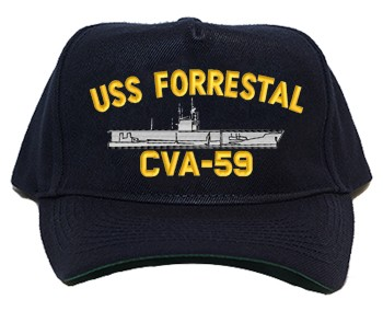 USS Forrestal CVA-59 Regulation Cap