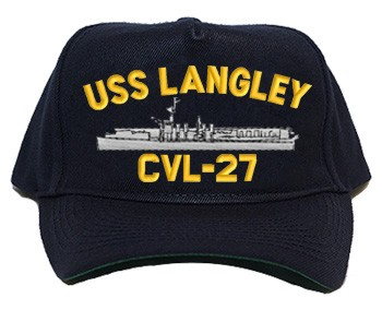 USS Langley Navy Ship Hats