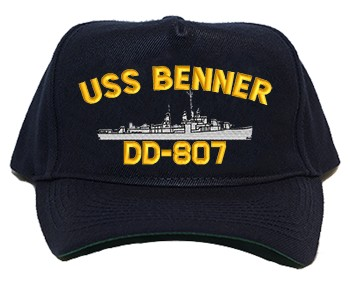 USS Benner DD/DDR-807 Regulation Cap