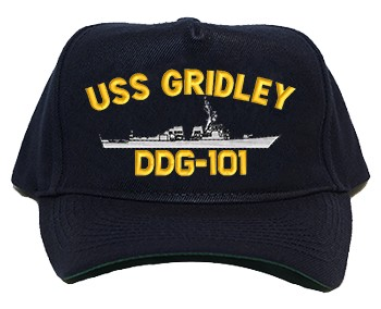 USS Gridely DDG-101 Regulation Cap