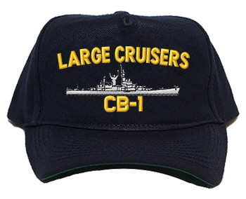 Regulation Style Caps - Custom Made for the  Large Cruiser you served aboard with ship name, hull number and proper silhouette