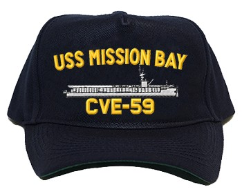 USS Mission Bay CVE-59 Regulation Style Cap