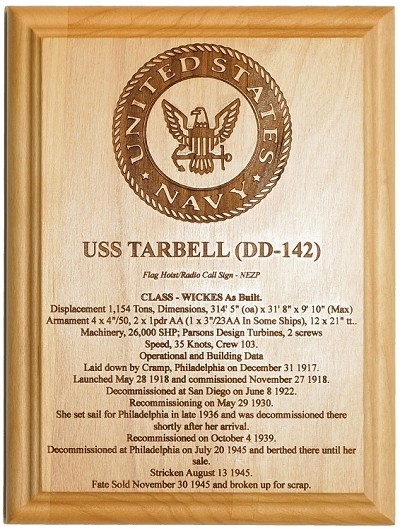 ca382bfb434 U.S. Navy Ship Plaques - 100% American Made - Laser engraved for your  favorite U.S. Navy Ship